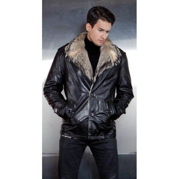 491629fbccf6c Мужская кожаная куртка с мехом — неизменный тренд зимы