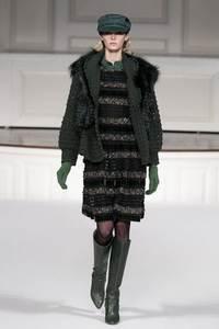 Oscar de la Renta - коллекция сезона осень/зима 2011-2012; мех - лисица
