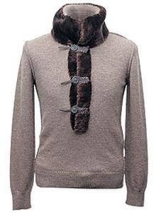 Джемпер из шерстяного трикотажа, Dolce & Gabbana. Отделка – мех альпака