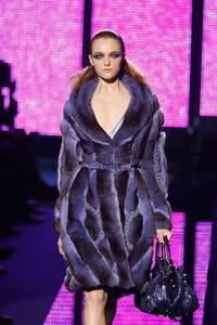 Versace – Blue dyed chincilla coat