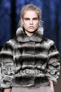 Fendi – Belted chinchilla jacket