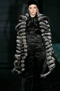Julien Macdonald - Chinchilla coat with jewel trim