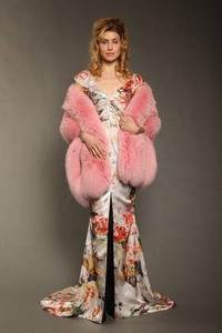 Zang Toi – Dyed pink fox stole