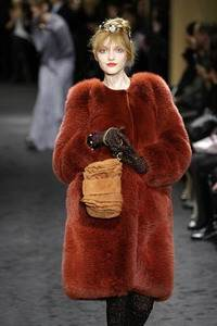 Sonia Rykiel – Rust fox cardigan coat