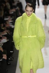 Michael Kors – Acid shredded fox coat