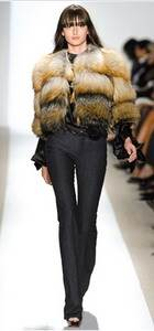 Dennis Basso – Tricolour ombre golden fox jacket