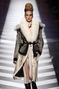 Jean Paul Gaultier – White badger coat with with white fox trim