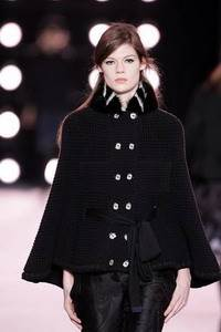 Nina Ricci - cape with nutria collar