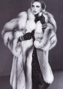 Cross Fox Fur Coat Pelz & Leder Special Edition