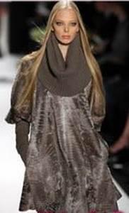Платье из каракульчи.