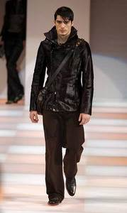 Giorgio Armani – Man''s ponyskin fitted jacket