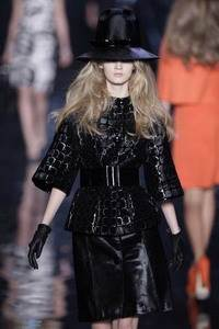 Christian Dior – Black ponyskin suit and matching hat