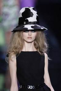Christian Dior – Black and white ponyskin hat