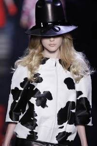 Christian Dior – Black and white pony skin jacket