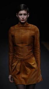 Anne Valerie Hash – Caramel pony skin turtleneck top and shirt