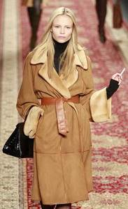 Herm?s – Tan ponyskin reversible wrap coat